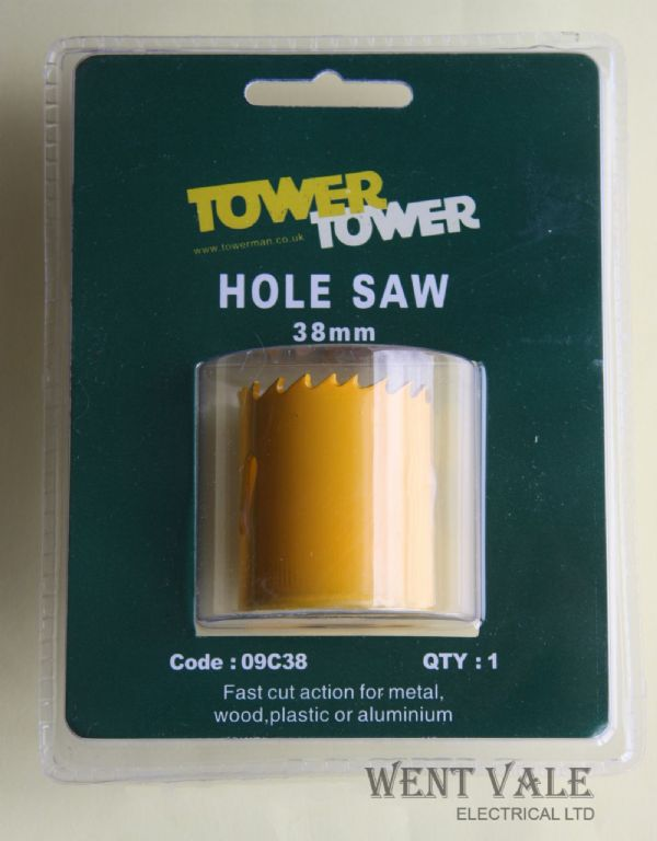 "Tower 09C38 - 38mm - 1½"" Bi-Metal Holesaw New in Blister Pack"